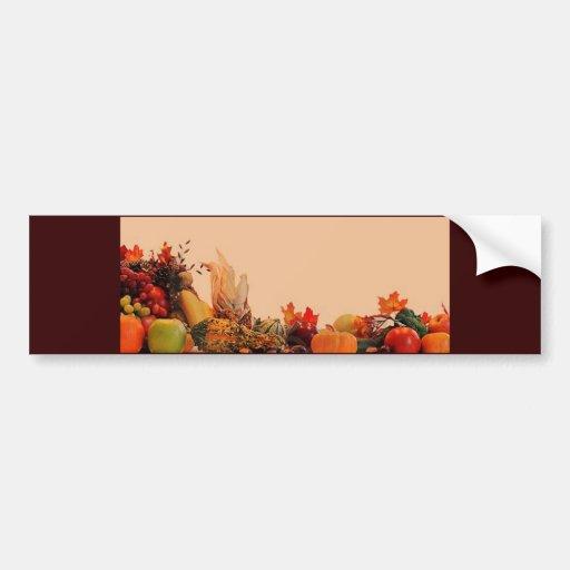 Acción de gracias/cornucopia etiqueta de parachoque