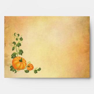 Acción de gracias, cosecha del otoño, calabazas A7 Sobres