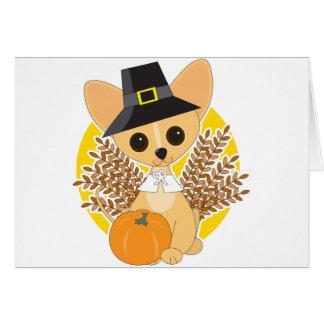 Acción de gracias de la chihuahua tarjeta de felicitación