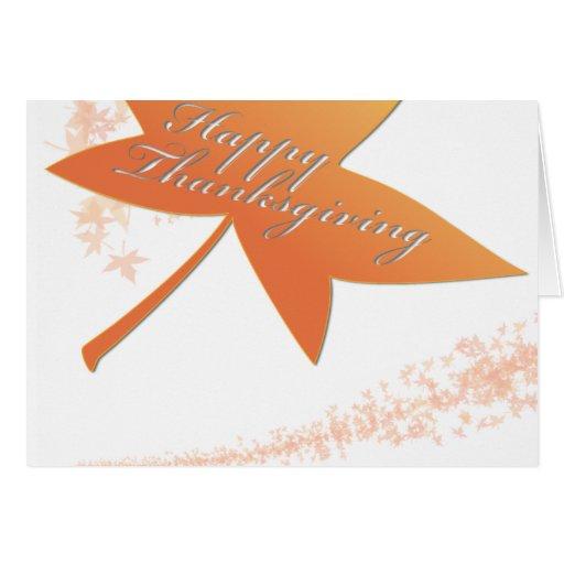 Acción de gracias de la hoja del otoño tarjeta de felicitación