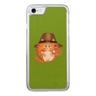 Acción de gracias del gato de la chuchería funda para iPhone 7