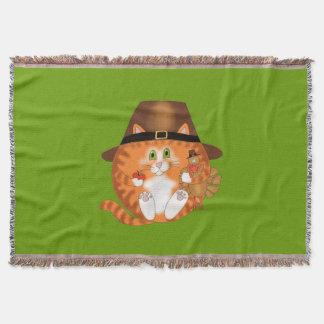 Acción de gracias del gato de la chuchería manta
