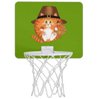 Acción de gracias del gato de la chuchería tablero de baloncesto mini