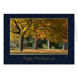 Acción de gracias del negocio tarjeta de felicitación
