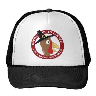 Acción de gracias del vegano gorras