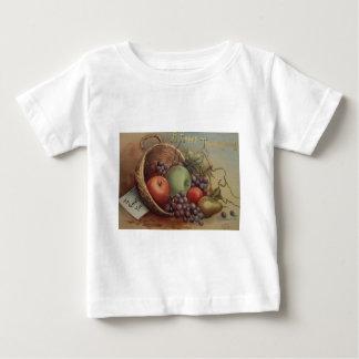 Acción de gracias del vintage - cornucopia de la tee shirt