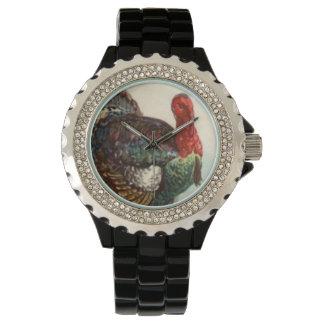 Acción de gracias del vintage de Turquía Reloj De Mano