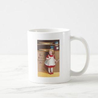 Acción de gracias del vintage del chica y de los taza clásica