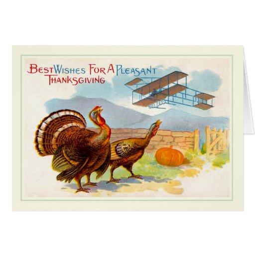 Acción de gracias del vintage tarjeta