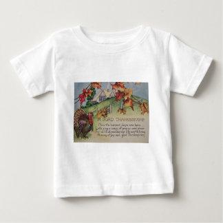 Acción de gracias del vintage - Turquía y verso Camiseta
