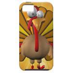 Acción de gracias divertida Turquía iPhone 5 Case-Mate Cobertura