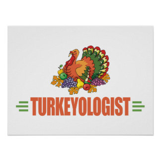 Acción de gracias divertida Turquía Poster