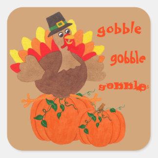 Acción de gracias divertida Turquía - pegatina