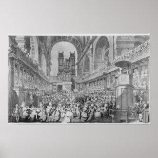 Acción de gracias en San Pablo para George III Posters