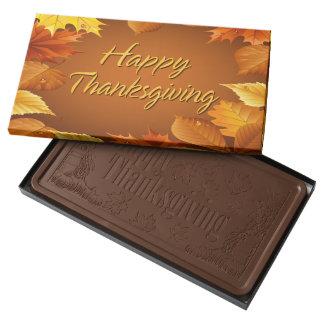 Acción de gracias feliz 1 barra de chocolate con leche grande