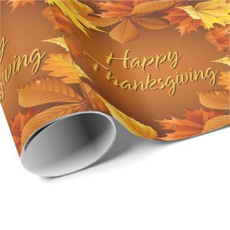 Acción de gracias feliz 1 papel de embalaje papel de regalo