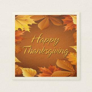 Acción de gracias feliz 1 servilleta de papel