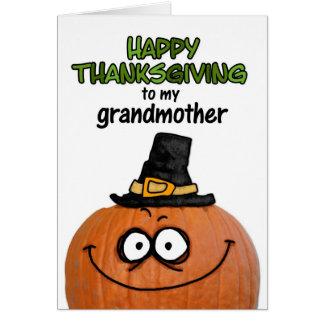 Acción de gracias feliz a mi abuela tarjetas