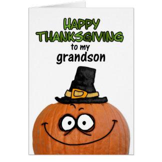 Acción de gracias feliz a mi nieto tarjeta