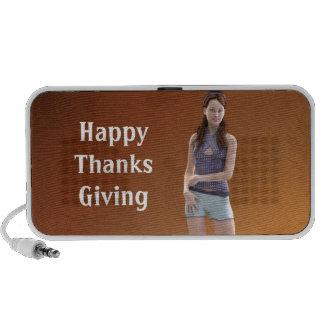 Acción de gracias feliz Bree Sistema Altavoz