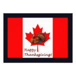 Acción de gracias feliz Canadá con la bandera y el Comunicado