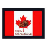Acción de gracias feliz Canadá con la bandera y el Invitación 12,7 X 17,8 Cm