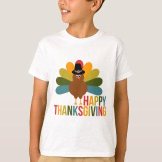 Acción de gracias feliz colorida Turquía Remeras