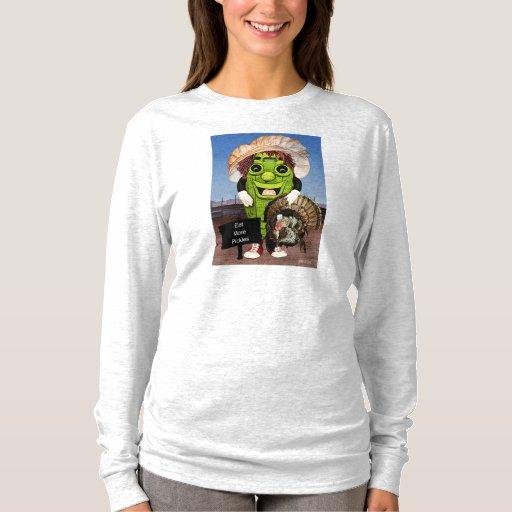 Acción de gracias feliz con la camiseta del eneldo