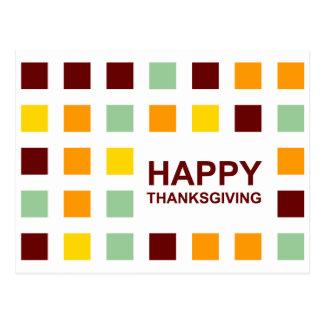 acción de gracias feliz (cuadrados de la MOD) Postales