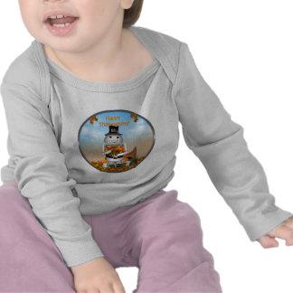 Acción de gracias feliz de Robo-x9 Camiseta
