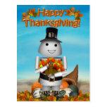 Acción de gracias feliz de Robo-x9 Postales