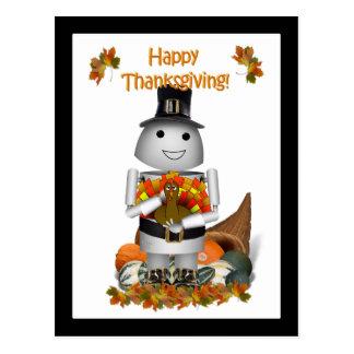 Acción de gracias feliz de Robo-x9 Postal