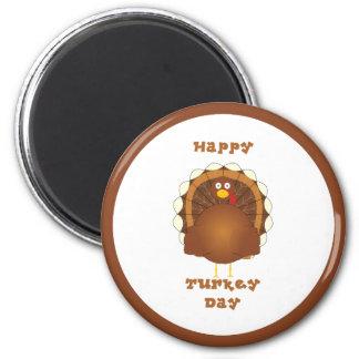 Acción de gracias feliz del día de Turquía Imán Redondo 5 Cm