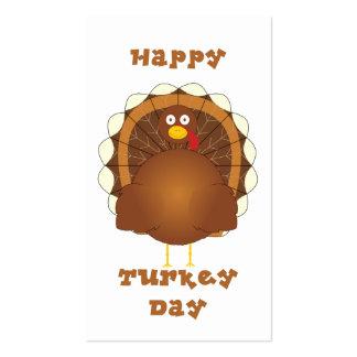 Acción de gracias feliz del día de Turquía Plantilla De Tarjeta De Visita