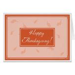 Acción de gracias feliz felicitacion