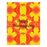 Acción de gracias feliz flyer a todo color