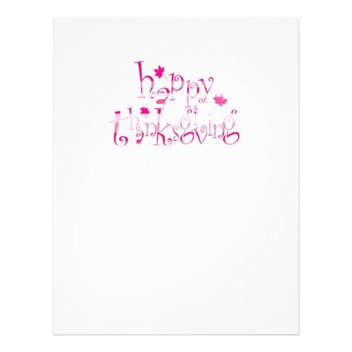 """Acción de gracias feliz folleto 8.5"""" x 11"""""""