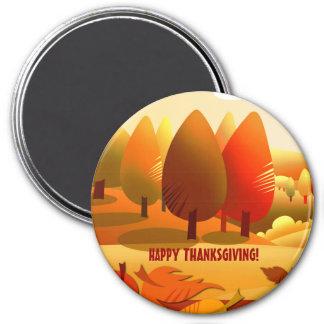 Acción de gracias feliz. Imán del regalo del paisa