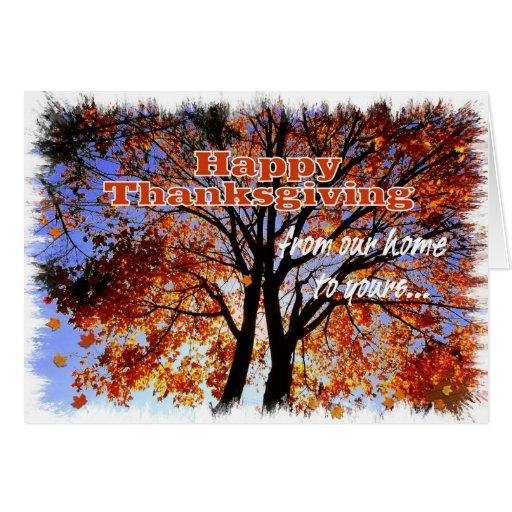 Acción de gracias feliz/nuestros colores de la tuy tarjetón