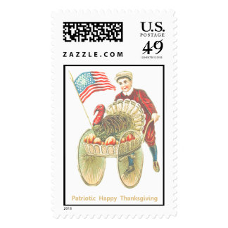 Acción de gracias feliz patriótica sello