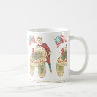 Acción de gracias feliz patriótica taza de café