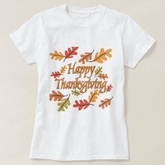 Acción de gracias feliz poleras