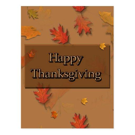 Acción de gracias feliz postal