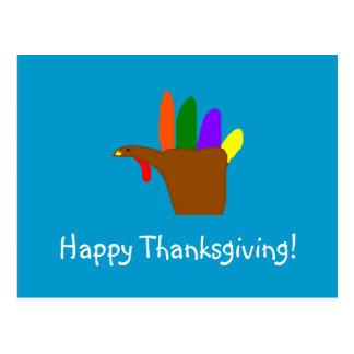 ¡Acción de gracias feliz! - postal