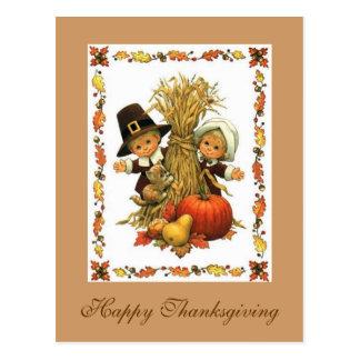 Acción de gracias feliz postales
