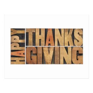 Acción de gracias feliz - saludos o deseos postal