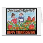 Acción de gracias feliz tarjeta
