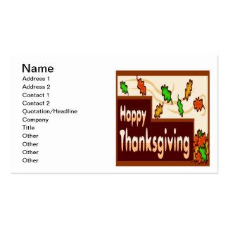 Acción de gracias feliz plantilla de tarjeta de visita