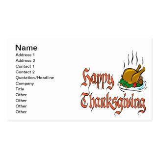Acción de gracias feliz plantilla de tarjeta personal