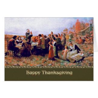 Acción de gracias feliz. Tarjeta adaptable de la